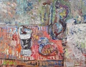 336. Jan CYBIS (1897-1972) Martwa natura z fili¿ank¹, 1965 fot. Rempex