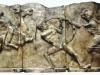 płaskorzeźba gipsowa, patynowana